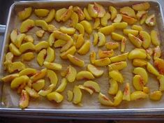 Freezing and canning peaches.