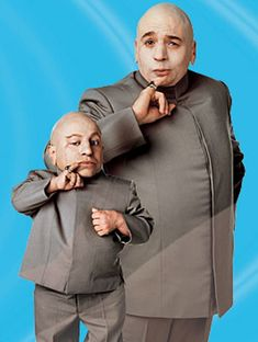 Mini-Me and Dr. Evil from famed Austin Powers movies