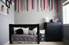 Love this ribbon room.