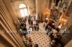 Amazing overhead view of The Great Hall