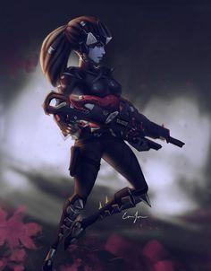 Widowmaker Noire by Yourbest.deviantart.com on @DeviantArt