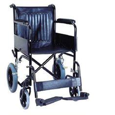 "Buy wheelchair online by Senior Shelf Karma Folding wheelchair Fighter F 12 –  www.seniorshelf.com Folding chrome plated model Seat width 18"" Rear wheel locking brakes Rear wheels 12"" & front wheels 8"" Fix arm and fix foot rest #wheelchair"