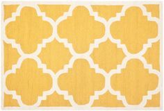One Kings Lane - Grounded in Style - Carly Rug, Gold/Ivory - for the living room