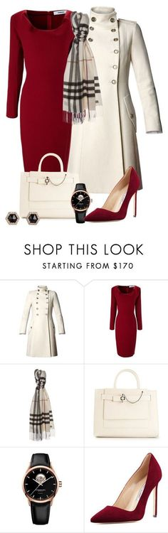 """""""Olivia Pope Re-styling"""" by habiba11 ❤ liked on Polyvore featuring MANGO, Chalayan, Burberry, Carven, Raymond Weil, Manolo Blahnik and Monique Péan"""