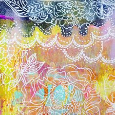 use white pen - art journalling idea Art Journal Pages, Art Pages, Art Journals, Bible Art, Book Art, Best Sketchbook, White Pen, Collages, Diy Artwork