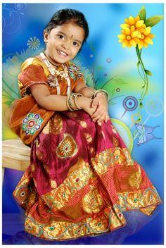 Yashaswini, Hyderabad | Telugu Traditional Kids | Traditional Kids Photos | Traditional Child Pics