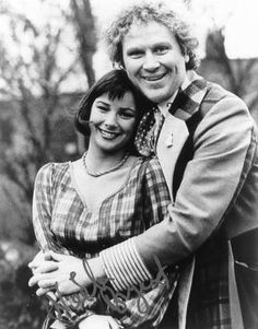 The Sixth Doctor and Peri having a cuddle. I would do anything for a cwtch with him (that's what we call a hug in Wales!).