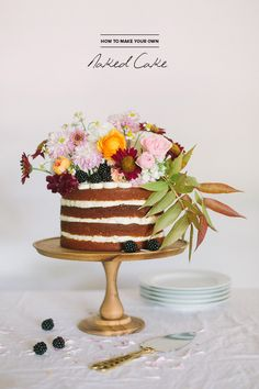 DIY Naked Cake | Photo by Apryl Ann Photography | Cake by Cakewalk Bake Shop | Read more - http://www.100layercake.com/blog/?p=80013 #nakedcake