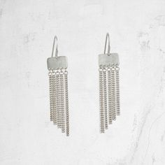 Chain Fringe Earrings  Chain Tassel Earrings  SM ZERDA