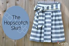 the hopscotch skirt tutorial--super cute-- Skirt Patterns Sewing, Sewing Patterns Free, Free Sewing, Skirt Sewing, Sewing Coat, Coat Patterns, Blouse Patterns, Easy Sewing Projects, Sewing Projects For Beginners