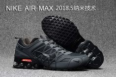 2018.5 Nike Air Max Hot Run Shoes Carbon Gray For Men