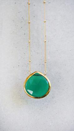 emerald green pendant.