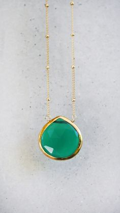 emerald green pendant.