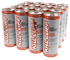 Kill Cliff Blood Orange Recovery & Hydration Drink 16 - 12 oz Cans Hydrating Drinks, Blood Orange, Cliff, Energy Drinks, Red Bull, Vodka, Recovery, Vitamins, Cleaning