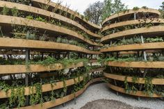 "https://flic.kr/p/yiuWX1 | THE INFINITE GREEN |is a an example of a ""green sculpture"" which is a combination of wooden construction, soil and vegetating plants. Sculpture may remind graphic symbol of infinity especially observed from point of bird view perspective. Different species are planted on 110 m2 on 7 levels of a sculpture (100 species of perennials have been applied here). Project is a part of visual art program of EUROPEAN CAPITAL OF CULTURE WROCLAW 2016; author: ADAM KALINOWSKI"