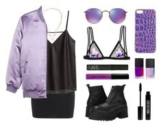 """Purple rain II"" by baludna ❤ liked on Polyvore featuring moda, T By Alexander Wang, Topshop, H&M, Victoria's Secret, UNIF, NARS Cosmetics, Bobbi Brown Cosmetics, Ray-Ban ve Lord & Berry"