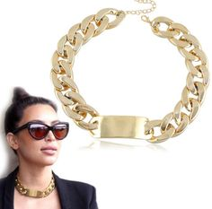 WHOLESALE FASHION JEWELRY ACCESSORIES NEW DESIGN LADY BIB STATEMENT GOLD CHAIN WOMEN NECKLACE COLLAR