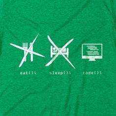 Web Developer Eat Sleep Code T-Shirt codeAddict