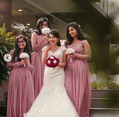 Indian Bridesmaid Dresses, Bridesmaid Saree, Wedding Bridesmaids, Bridesmaid Bouquets, Wedding Wear, Bride Reception Dresses, Bride Gowns, Wedding Frocks, Saree Wedding