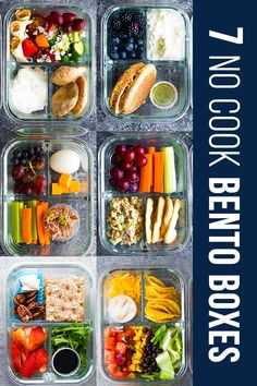 7 no cook lunch box recipes that you can prep in under 30 minutes! These adult lunch box ideas are perfect for meal prep. 7 no cook lunch box recipes that you can prep in under 30 minutes! These adult lunch box ideas are perfect for meal prep. Nutritious Snacks, Healthy Snacks, Healthy Recipes, Cheap Recipes, No Cook Recipes, No Cook Meals, Healthy Cold Lunches, Kid Snacks, School Snacks