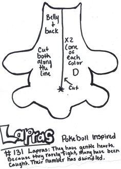 Pokedoll Lapras Plush Pattern Scan 1 By Kurosakou On DeviantART