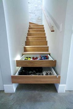 Install stairs that double as drawers. 32 Crazy Things You Will Need In Your Dream House