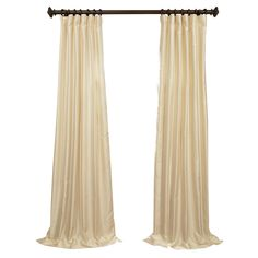 Faux Silk Rod Pocket Curtain Panel   Joss & Main
