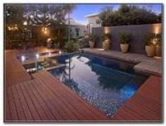 pool built in deck - Yahoo Image Search Results Above Ground Pool, In Ground Pools, Building A Pool, Wooden Decks, Barndominium, Yahoo Images, Gd, The Great Outdoors, Image Search