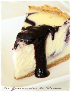 My favorite Cheesecake. Cream Cheese Cheesecake, Blueberry Cheesecake, Cheesecake Recipes, Cookie Recipes, Cheesecakes, Yummy Treats, Sweet Treats, Summer Desserts, Macaroons