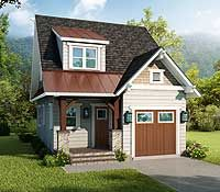Cottage Floor Plans, Cottage House Plans, Small House Plans, Cottage Homes, House Floor Plans, House Plan With Loft, Narrow Lot House Plans, Exterior House Siding, Sims House