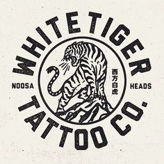 Logo for a mates new venture @mitch13tattoodtd @whitetigertattooco #design… …