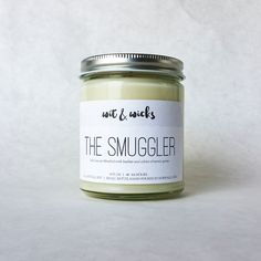 The Smuggler Scented Soy Candle // Salty Sea Air by WitAndWicks