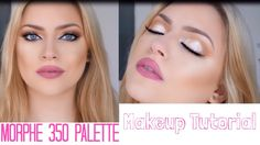 Soft glam: Rose gold, brown and orange eyeshadow makeup tutorial - Morphe 35O Palette Makeup Tutorial
