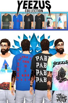 Lana CC Finds - thesnootprincecc: Yeezus Shirt Pack for The Sims...