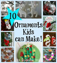 10 Christmas Ornaments Kids can Make [It's Playtime!] - The Imagination Tree