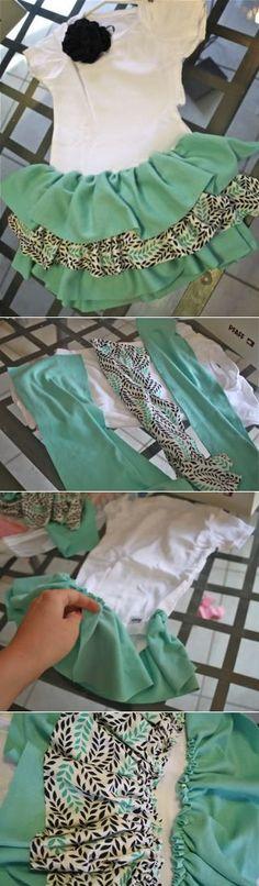 Sugar Baby Boutique: Ruffly Onesie Dress