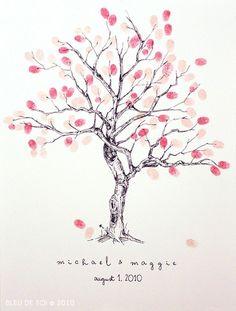 Arbre avec feuilles sous forme dempreintes roses ameliste.fr