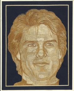 Tom Cruise Portrait  Handmade with leaves of rice by museumshop, $99.00    Hollywood star Handmade leaf art  by museumshop, No color paint or dye added to the natural color of rice straw (Dried leaves of rice plant).  This portrait is not a photo, painting, print but handmade with thousands of tiny pieces of rice straw.  COLLECTIBLE LEAF ART.