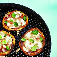 Quick and easy to make, this barbecued Margherita pizza rivals delivery in speed and is better in flavour. Find more recipes at Chatelaine.com!