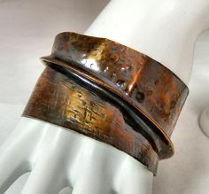 Hammered & Fold-Formed Copper Cuff by SweetFreedom, via Flickr