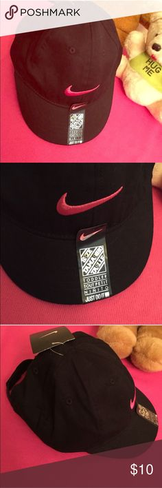 🆕Nike Toddler Cap Authentic Nike Toddler Cap. Black with Hot Pink Swoosh on the Front & Back. Vented. Adjustable Velcro Back. 100% Cotton. Brand New. Excellent Condition. No Trades. Nike Accessories Hats