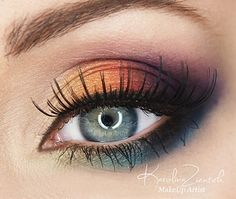 Amazing rainbow eye shadow