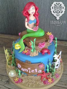 Tarta de la Sirenita para Daniela.