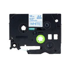 """Brother TZe-233 P-Touch Label Tape, 12mm (0.5"""") White on Blue, Compatible"""