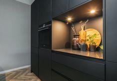 Gallery Frames, Rattan Basket, Modern Kitchen Design, Kitchen Designs, Common Area, Home Look, Built Ins, New Homes, Interior Design