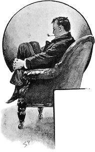 Sherlock Holmes, concentrating.