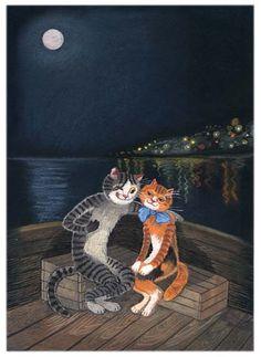 Tatiana Rodionova Cat And Dog Drawing, Comic Cat, Cat Medicine, Illustrator, Cat Posters, Fantastic Art, Crazy Cats, Cat Love, Cat Art