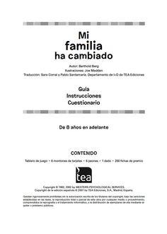 """Manual descargable del #juego """"Mi familia ha cambiado"""" que pretende ayudar a #niños y adolescentes a reconocer y corregir actitudes problemáticas hacia la separación o el #divorcio de sus padres."""