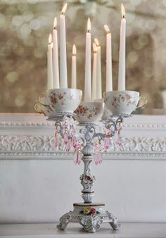Teacup candles! Really cool