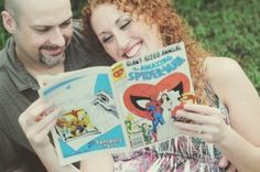 Calling all comic book super fans! How amazing would it be to incorporate Spiderman into your engagement? Show your awesome personality with these adorable geeky wedding ideas! Picnic Engagement, Engagement Shoots, Comic Book Wedding, Heart Photography, Wedding Inspiration, Wedding Ideas, Spiderman, Wedding Planning, Geek Stuff